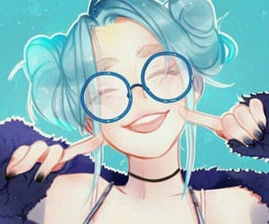 anime, art, and blue hair image