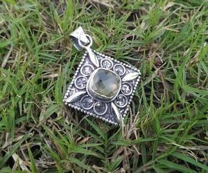healing crystal, boho pendant, and gothic pendant image