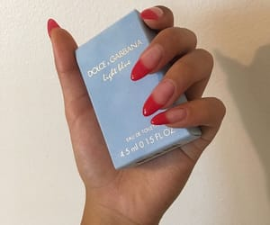 aesthetic, nails, and red image