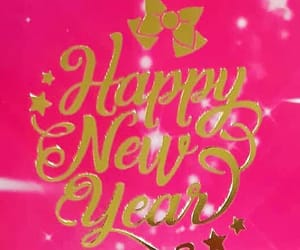 gold, happynewyear, and hotpink image