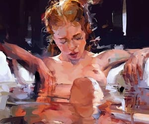 art, bath, and painting image