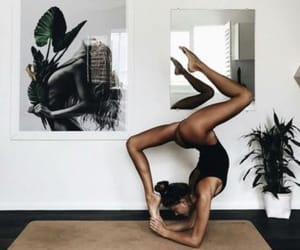 girl, yoga, and body image
