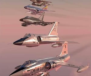 airplane, flight, and pink image
