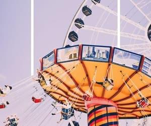 wallpaper, amusement park, and purple image