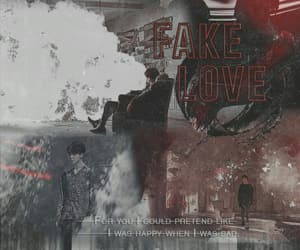 wallpaper, fake love, and bts image