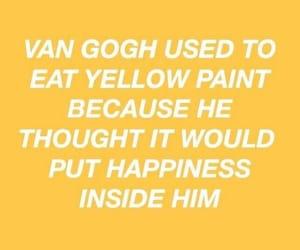 yellow, paint, and van gogh image