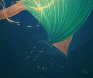 ariel, disney art, and green image