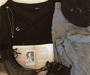 aesthetic, black and white, and outfit image