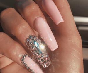 beauty, nail art, and pink nails image