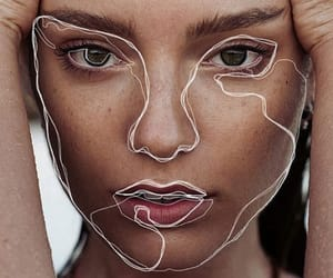 art, beauty, and face image