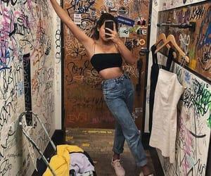 girl, graffiti, and style image