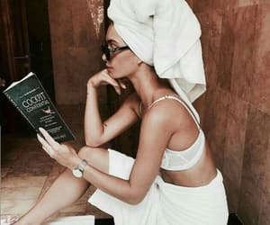 bath, jewelry, and reading image