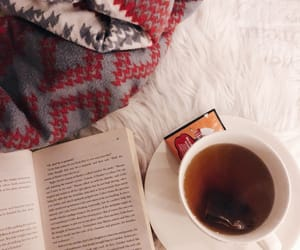 book, cozy, and snow image
