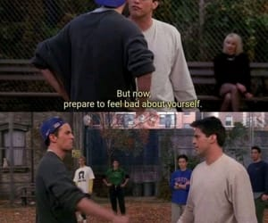 chandler, fight, and funny image