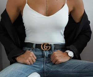 fashion, gucci, and jeans image