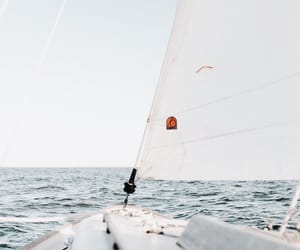 boat, wind, and sail image
