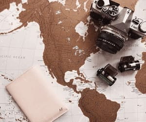passport, camera, and travel image