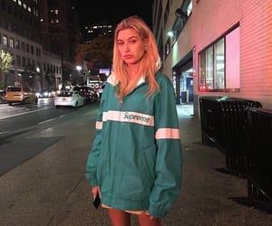 hailey baldwin, model, and supreme image