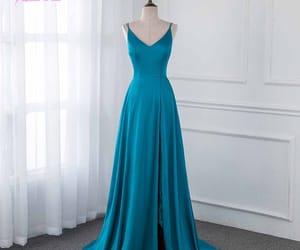 dress, emerald, and evening dress image