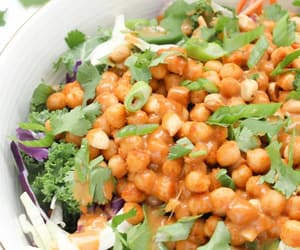 salad, vegan, and chickpea image