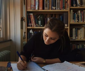 books, girl, and school image