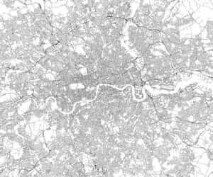 london, city, and map image