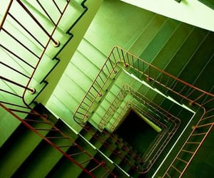 aesthetic, green, and stairs image