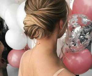 balloons, girls, and hair image