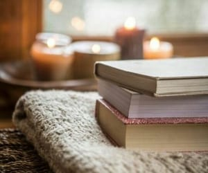 blanket, candle, and cosy image