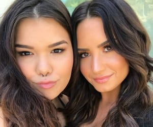 celebrities, sisters, and demi lovato image