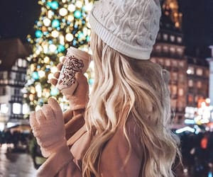 winter, girl, and christmas image
