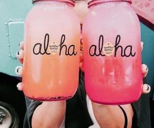 Aloha, girl, and orange image