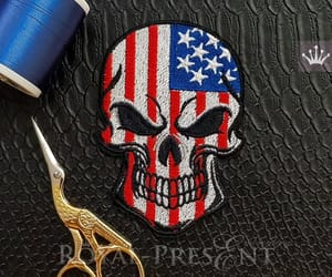 america, skeleton, and embroiderydesign image