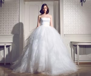 bridal, bride, and wedding dress image