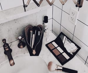 bathroom, cosmetics, and makeup image