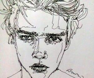 art, boy, and drawing image
