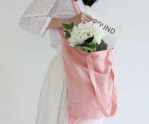 aesthetic, bag, and flowers image