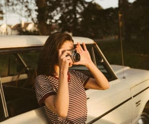 car, girl, and photo image