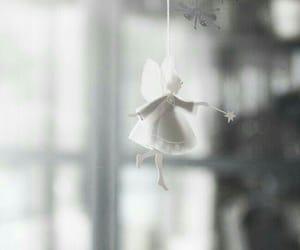 christmas, angel, and white image