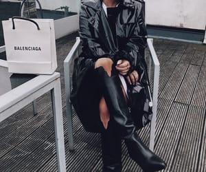 Balenciaga, black, and boots image