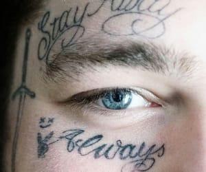 blue, eye, and tattoo image