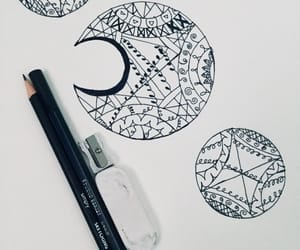 art, sketching, and black and white image