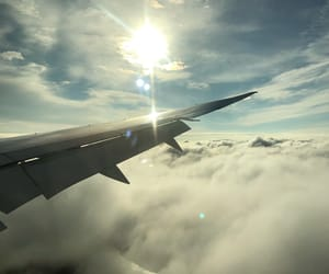 air, flight, and plane image