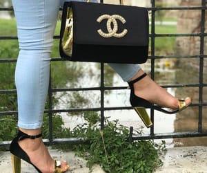 bag, black, and shoe image