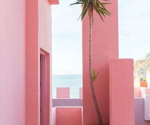 beach, pink, and beautiful image