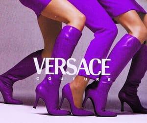 fashion, purple, and Versace image