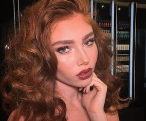 blush, eyeliner, and freckle image