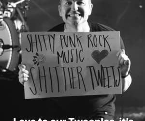 black and white, blink-182, and concert image