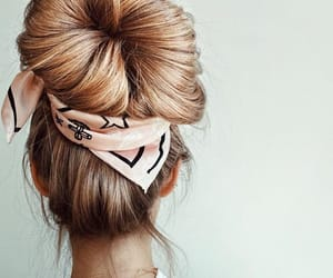 hair, fashion, and bun image