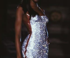 model, Naomi Campbell, and dress image